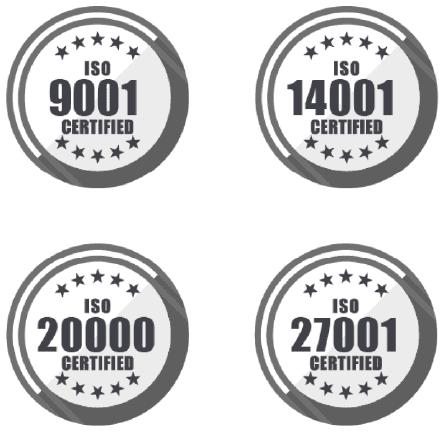 ISO certifikace ComSourcce